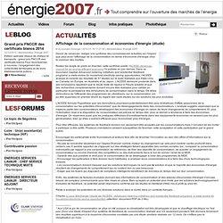 Affichage de la consommation et économies d'énergie (étude)