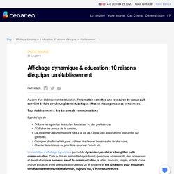 7 - Affichage dynamique & éducation: 10 raisons d'équiper un établissement