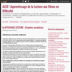 b) AFFICHAGE LECTURE : Graphies complexes. -