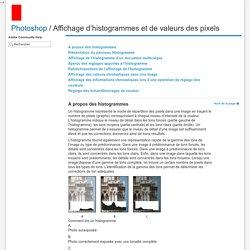 Affichage d'histogrammes et de valeurs des pixels
