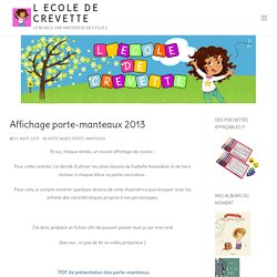Affichage porte-manteaux 2013 - L ecole de crevette