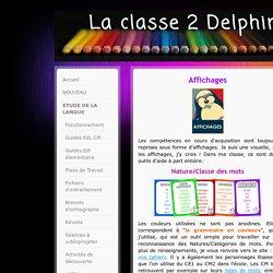 Affichages - laclasse2delphine !