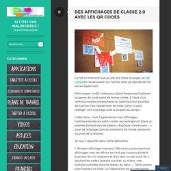 Des affichages de classe 2.0 avec les QR codes