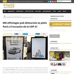 600 affichages pub détournés en plein Paris à l'occasion de la COP 21