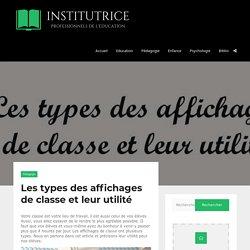 Les types des affichages de classe et leur utilité - Institutrice.com