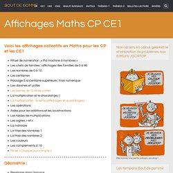 Affichages Maths CP CE1