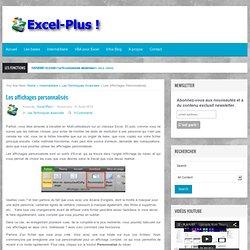 Les affichages personnalisés - Excel-Plus !