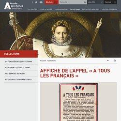 [Affiche] de l'Appel « A tous les Français » par De Gaulle