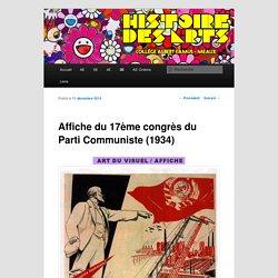 Description de l'affiche du 17ème congrès de parti communiste