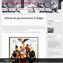 Affiche du gouvernement & Slogan
