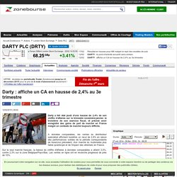 Darty : affiche un CA en hausse de 2,4% au 3e trimestre