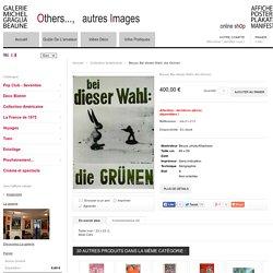 Affiche originale Beuys, Bei dieser Wahl: die Grnen