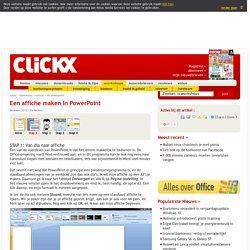 Een affiche maken in PowerPoint - workshops - Clickx - pagina: 2