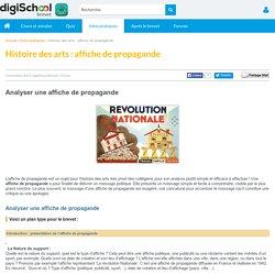 Affiche de Propagande en Histoire des Arts