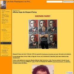 Affiche Hope de Shepard Fairey - Les Arts Plastiques à la Pro...