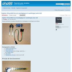 Capteur d'humidité du sol (analogique et numérique) avec Ard