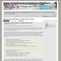 Afficher le sujet - Définition série et dérivation (+ noeud, boucle, branche)