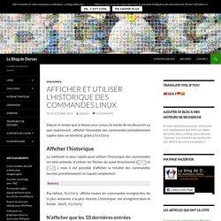 Afficher et utiliser l'historique des commandes Linux