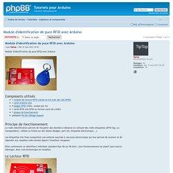 Afficher le sujet - Module d'identification de puce RFID avec Arduino