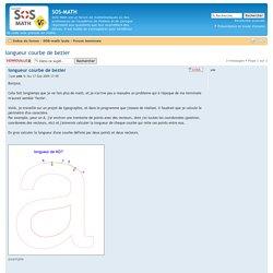 Afficher le sujet - longueur courbe de bezier