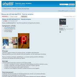 Afficher le sujet - Réseau de LED 8x8 MAX7219 - Tutoriel Arduino
