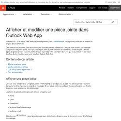Afficher et modifier une pièce jointe dans Outlook Web App - Outlook