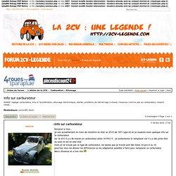 Afficher le sujet - info sur carburateur