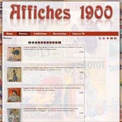 Posters : Affiches anciennes 1900 de collection
