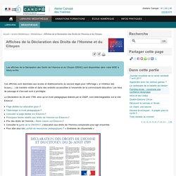 Affiches de la Déclaration des Droits de l'Homme et du Citoyen - L'Atelier Canopé 78 – Marly-le-Roi