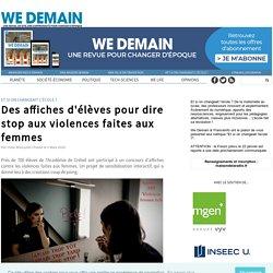 Des affiches d'élèves pour dire stop aux violences faites aux femmes