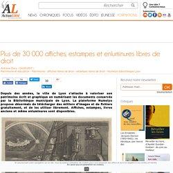 Plus de 30 000 affiches, estampes et enluminures libres de droit