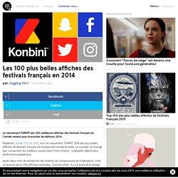 Les 100 plus belles affiches des festivals français en 2014