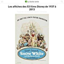 Les affiches des 53 films Disney de 1937 à 2013