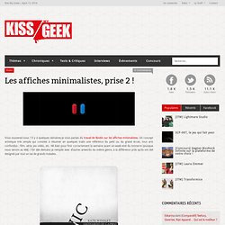 Les affiches minimalistes, prise 2 ! « KissMyGeek, 'cause the Geek is not a lie !