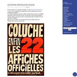 Les affiches officielles de Coluche