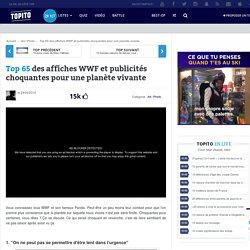 Top 62 des affiches WWF et publicités choquantes pour une planète vivante