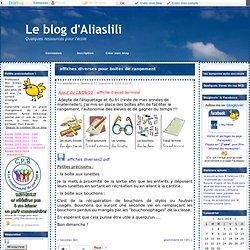 affiches diverses pour boîtes de rangement - Le blog d'aliaslili