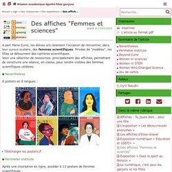 Femmes et sciences - Mission académique égalité filles garçons
