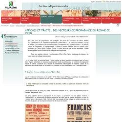 Affiches et tracts : des vecteurs de propagande du régime de Vichy