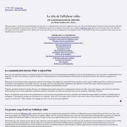 - Le rôle de l'afficheur vidéo en communication interne - Teledac Inc.