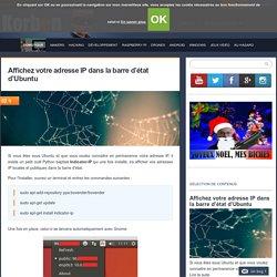 Affichez votre adresse IP dans la barre d'état d'Ubuntu