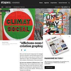 """""""Affichons-nous !"""" pour valoriser la création graphique contemporaine"""