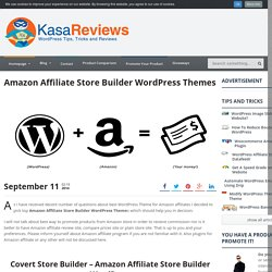 Amazon Affiliate Store Builder WordPress Themes
