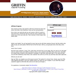 Affiliate Program - Griffin Commercial Mortgage