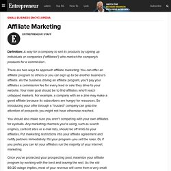 Affiliate Marketing - Small Business Encyclopedia