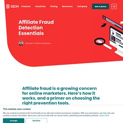 Affiliate Fraud Detection - What is It and What Tools Work?