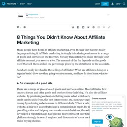 8 Things You Didn't Know About Affiliate Marketing: emponline — LiveJournal