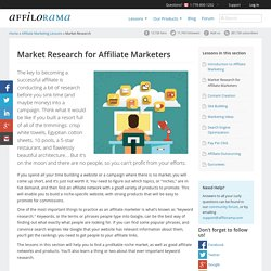 Market Research Ideas and Tips for Affiliate Marketers