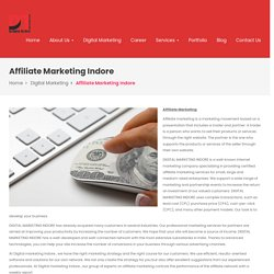 Affiliate Marketing or Earn by digital Marketing in Indore