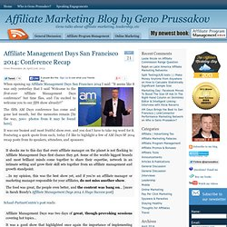 Affiliate Marketing Blog by Geno Prussakov « Geno talks about affiliate marketing, leadership, etc